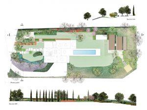 diseño de jardin awel paisajismo